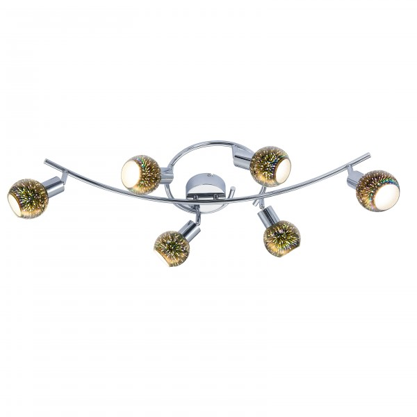 Nino LED Spotleuchte - FIREWORK 6 Flg Serie