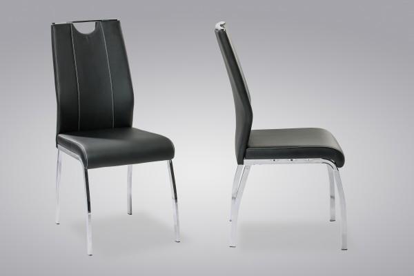 4-Fuß-Stuhl • Ralf / Schwarz ( 4er Set )