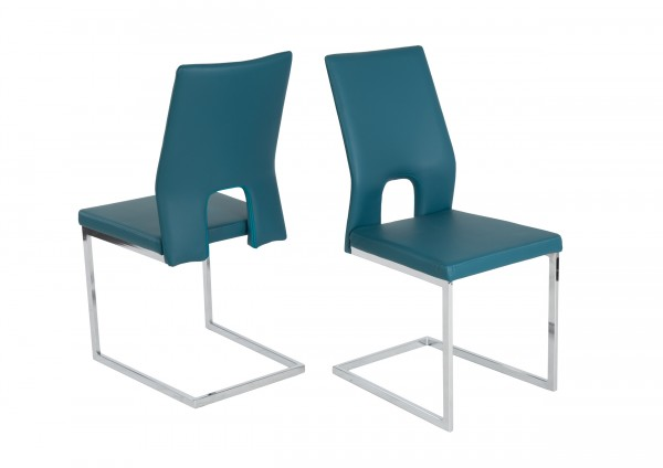 Schwingstuhl - Stuhl Jim / Petrol ( 4er Set )
