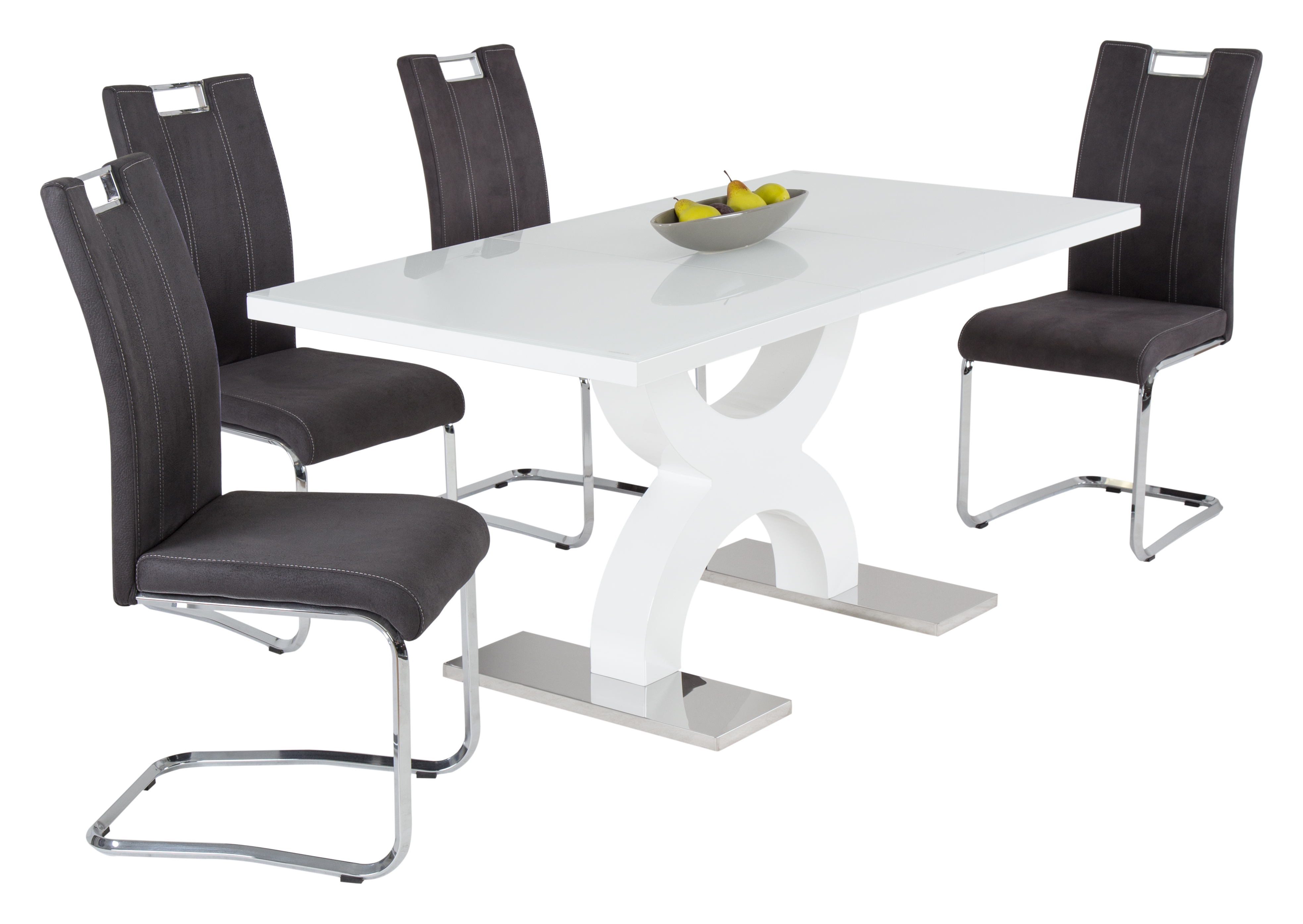 m belhaus 24 esstisch valleta wei glas m belhaus 24 online m bel kaufen qualit t zu. Black Bedroom Furniture Sets. Home Design Ideas