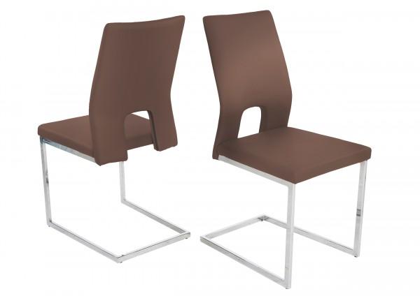 Schwingstuhl Stuhl Jim / Cappuccino ( 4er Set )