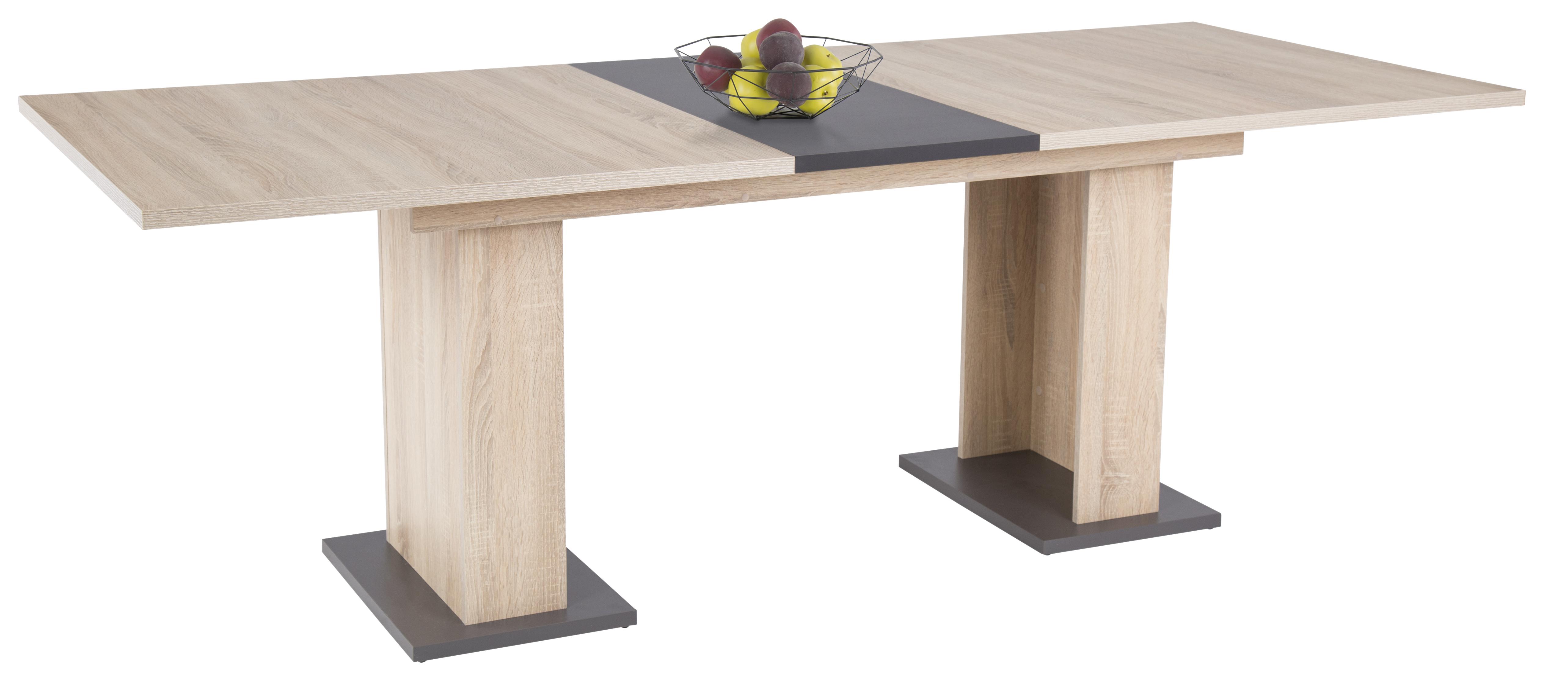 m belhaus 24 esstisch olivia sonoma grau m belhaus 24 online m bel kaufen qualit t. Black Bedroom Furniture Sets. Home Design Ideas