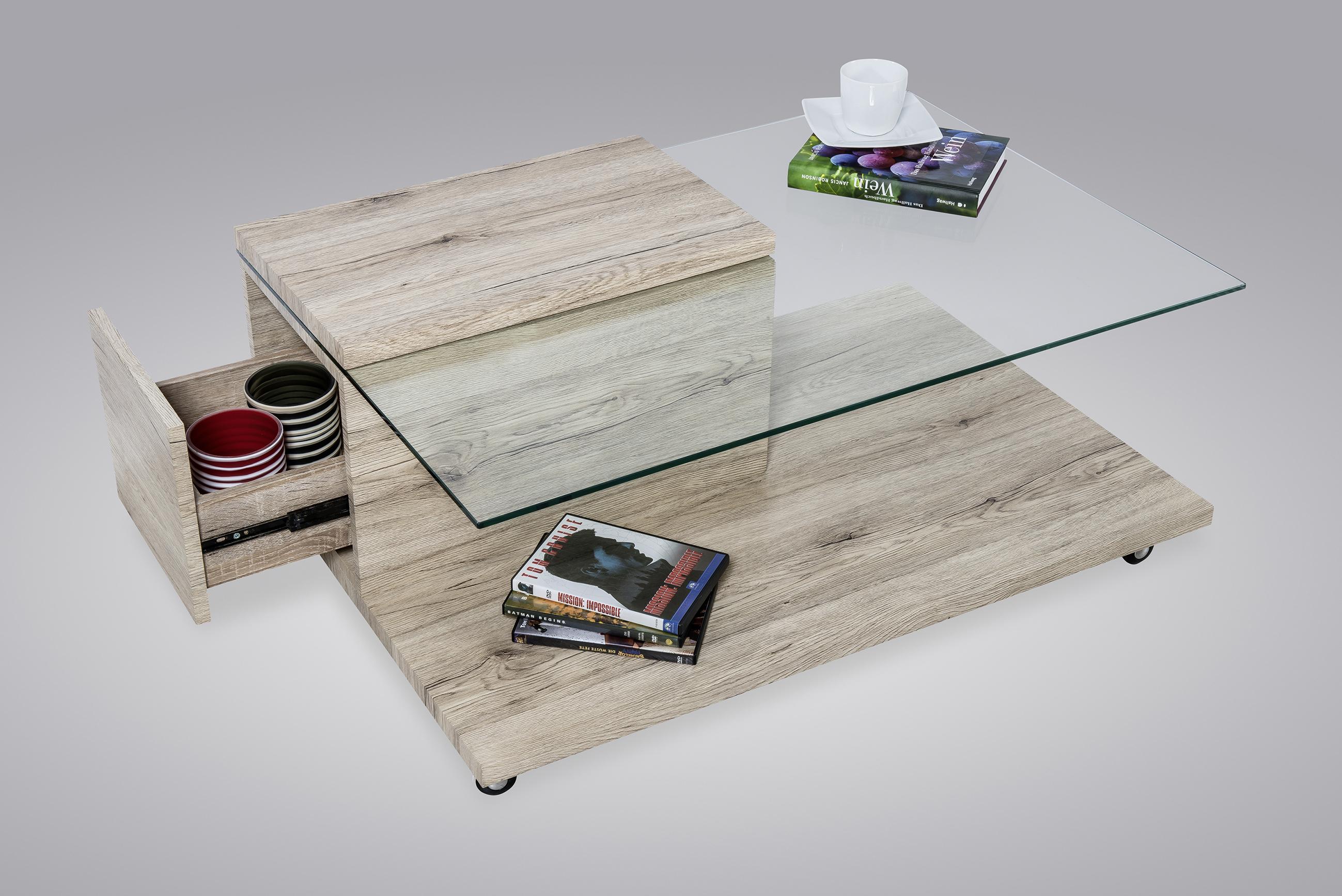 m bel haus 24 couchtisch henning san remo mdf glas. Black Bedroom Furniture Sets. Home Design Ideas