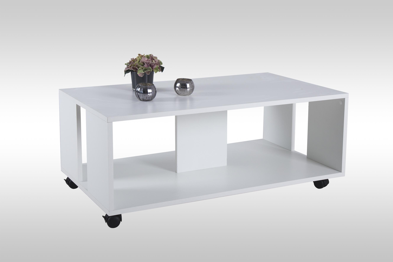 m bel haus 24 couchtisch robin wei matt auf rollen. Black Bedroom Furniture Sets. Home Design Ideas