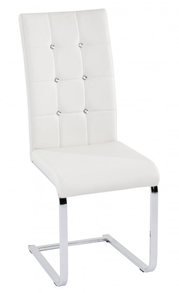 Freischwinger Tiffany / Weiß ( 4er Set )
