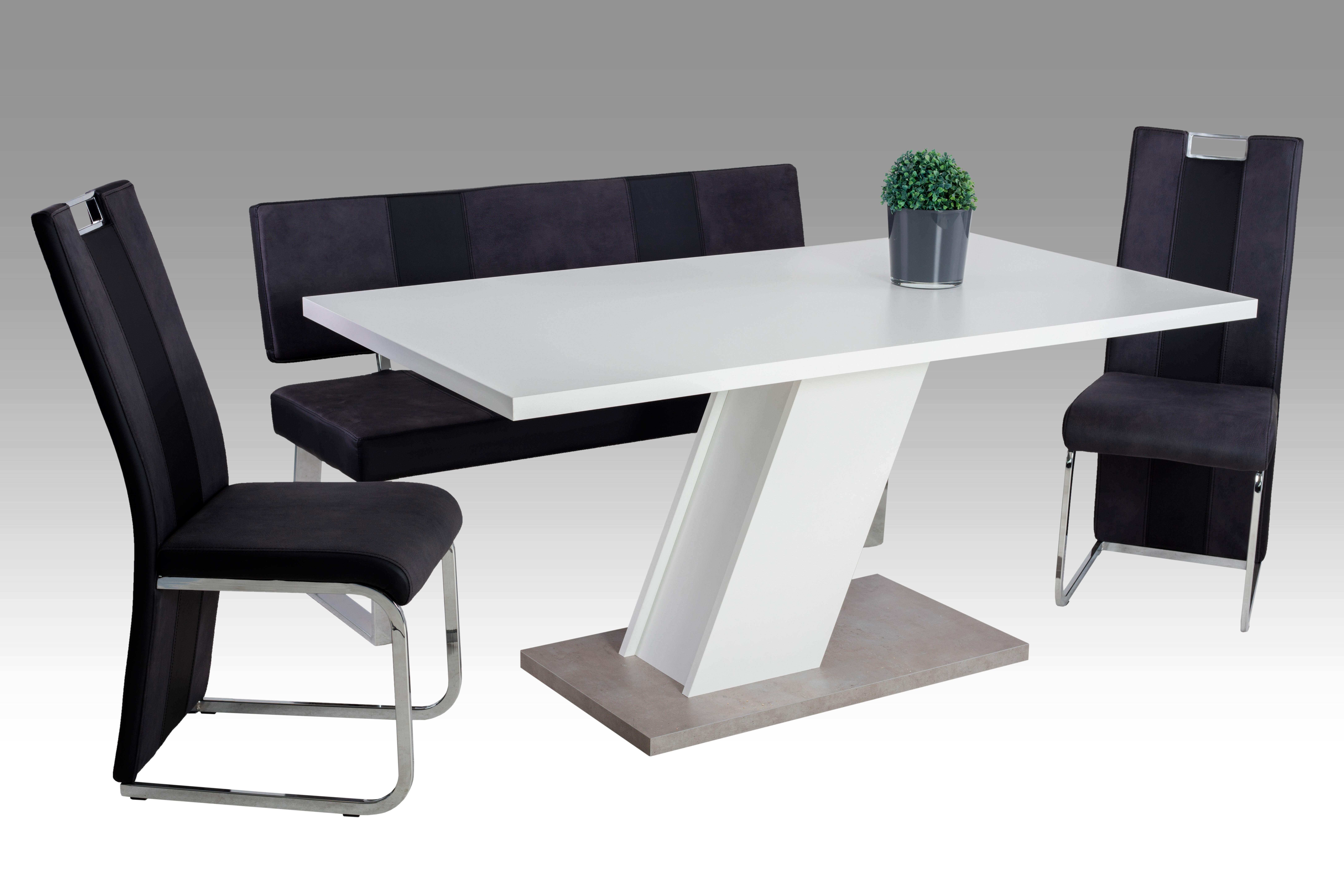 m belhaus 24 esstisch innsbruck wei 160 cm m belhaus 24 online m bel kaufen. Black Bedroom Furniture Sets. Home Design Ideas